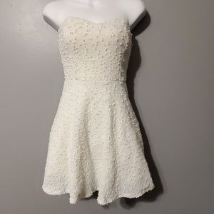 White and blue party dress